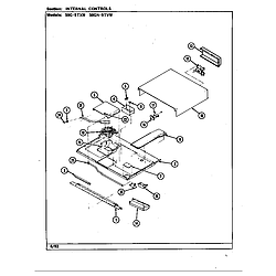 59GN5TVW Range Internal controls Parts diagram