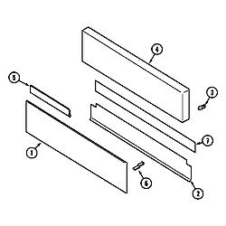 62946975 Range Access panel Parts diagram