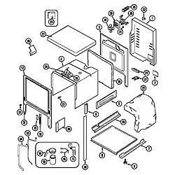 62946975 Range Body (series 10&11) Parts diagram