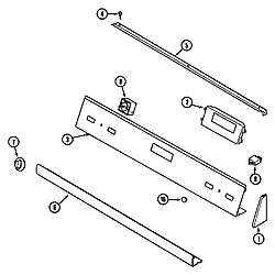 62946975 Range Control panel (series 12) Parts diagram