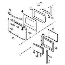 62946975 Range Door Parts diagram