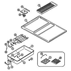 62946975 Range Top assembly Parts diagram