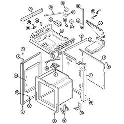 6498VRA Gas Range Body Parts diagram