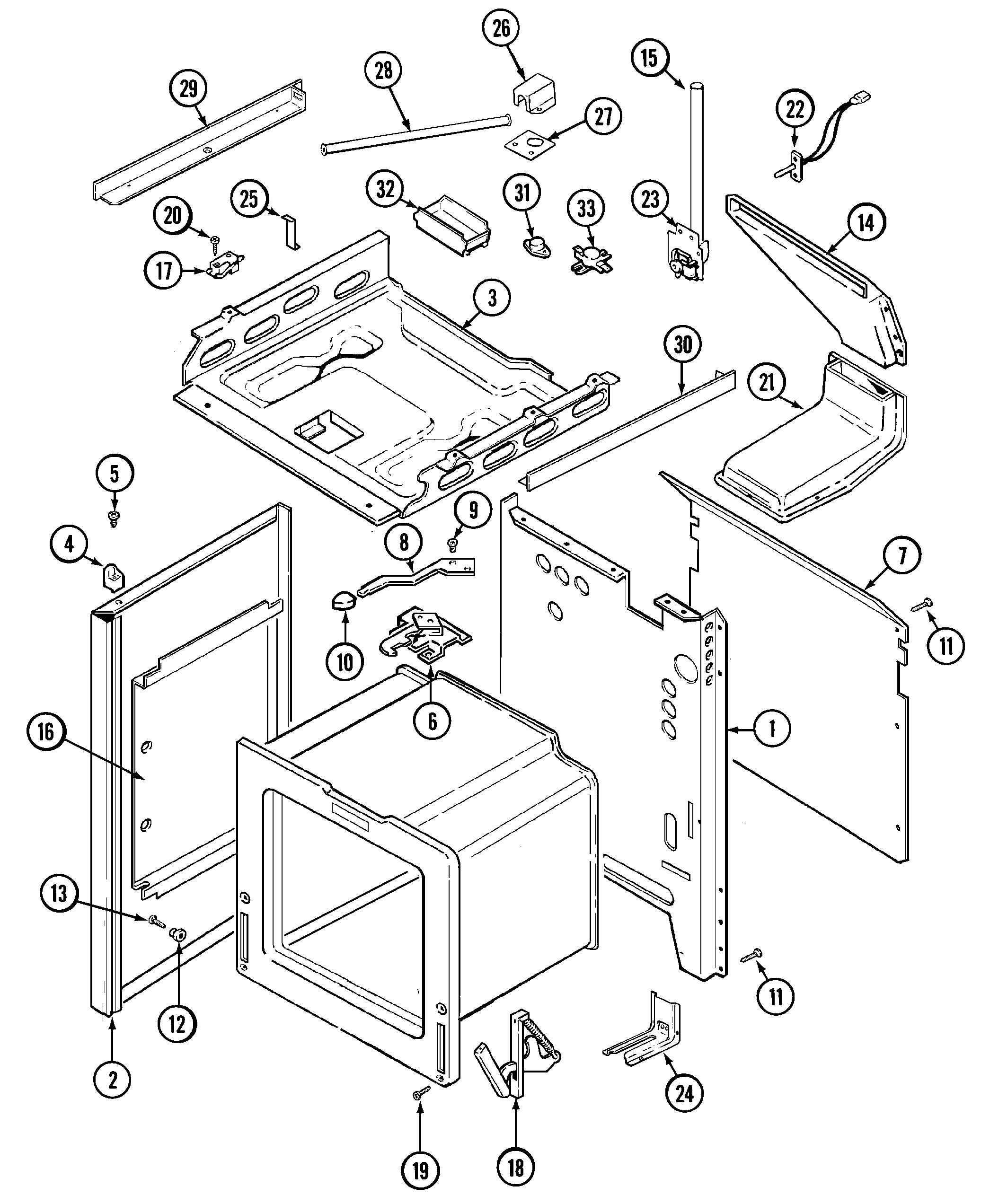 WRG-8908] Magic Chef Range Wiring Diagram on