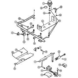 6498VRA Gas Range Gas controls Parts diagram