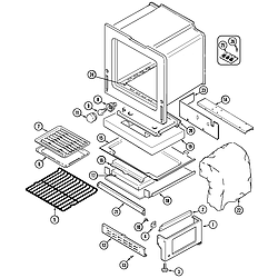 6498VRA Gas Range Oven Parts diagram