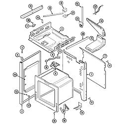 6498VTA Gas Range Body Parts diagram