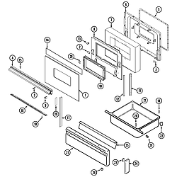 6498VTA Gas Range Door/drawer Parts diagram