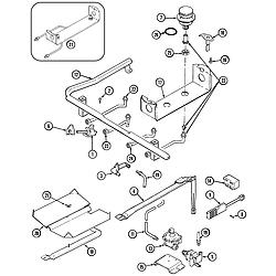 6498VTA Gas Range Gas controls Parts diagram