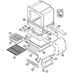 6498VTA Gas Range Oven/base Parts diagram