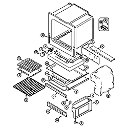 6498VVV Gas Range Oven/base (6498vvd) (6498vvv) Parts diagram