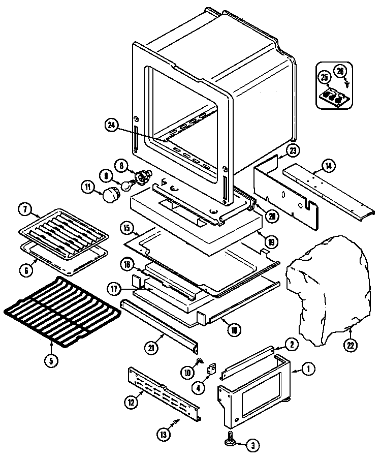 Stove Oven Diagram