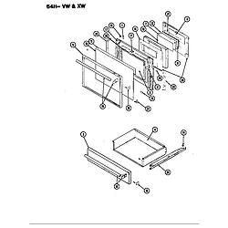 64HN4TKVW Range Door Parts diagram