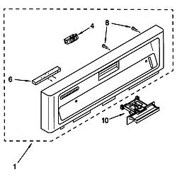 66515982990 Dishwasher Control panel Parts diagram