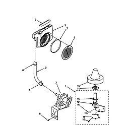 66515982990 Dishwasher Fill and overfill Parts diagram