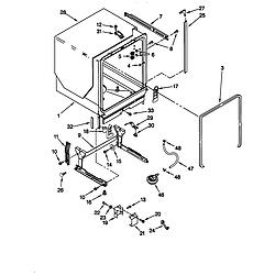 66515982990 Dishwasher Tub and frame Parts diagram