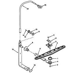 66515982990 Dishwasher Upper washer and rinse Parts diagram