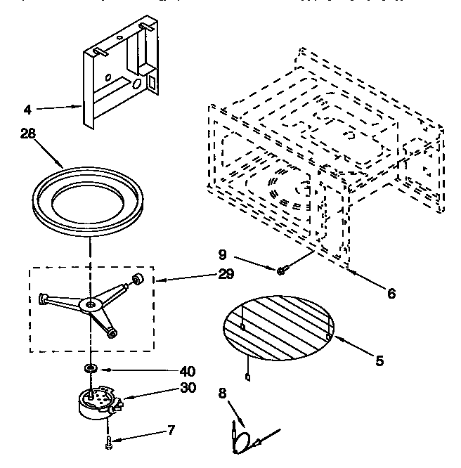 6654493392 Microwave Cavity And Turntable Parts Diagram