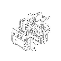 66595812000 Electric Range Control panel Parts diagram