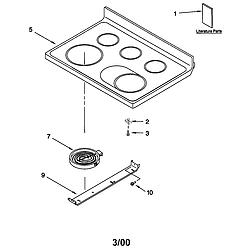 66595812000 Electric Range Cooktop Parts diagram