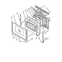 66595812000 Electric Range Door Parts diagram