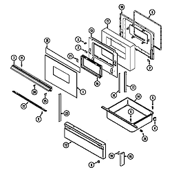 6898XRB Range Door/drawer Parts diagram