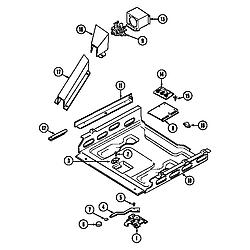 6898XRB Range Internal controls Parts diagram