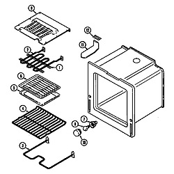 6898XRB Range Oven Parts diagram
