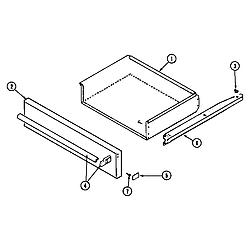 68HK6TXW Range Access-drawer Parts diagram