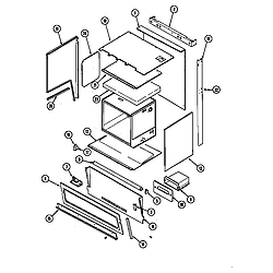 7858XVW Range Body (upper) Parts diagram