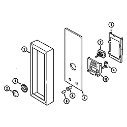 7858XVW Range Controls (upper) Parts diagram