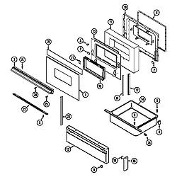 7858XVW Range Door/drawer Parts diagram