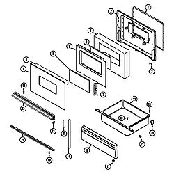 7858XVW Range Door/drawer (ser. pre. 11) Parts diagram