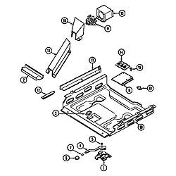 7858XVW Range Internal controls Parts diagram