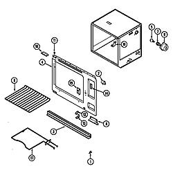 7858XVW Range Oven (upper) Parts diagram