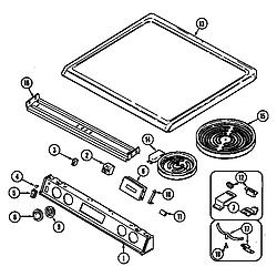 7858XVW Range Top assembly Parts diagram