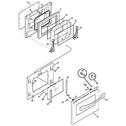 790461233 Electric Range Door Parts diagram