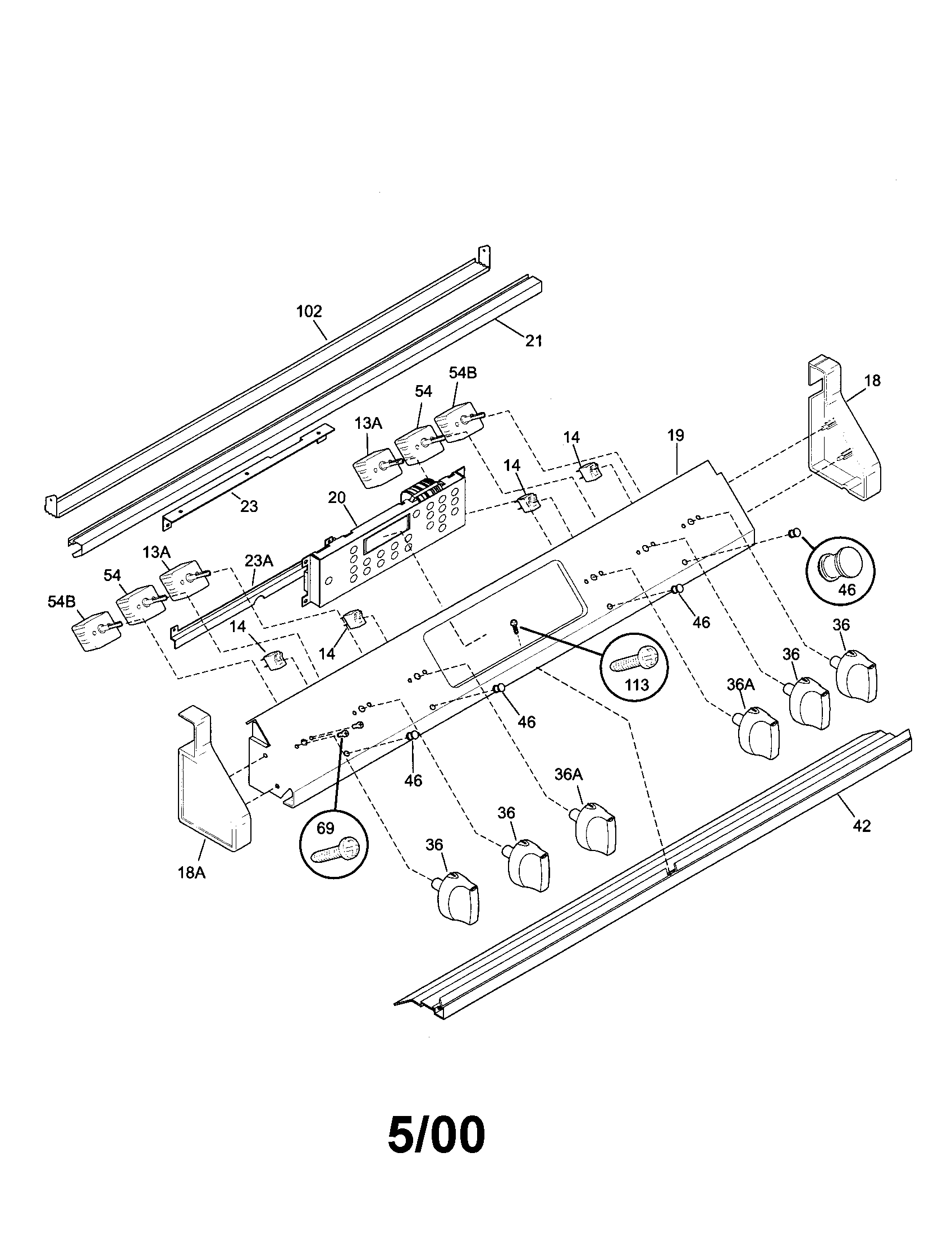 backguard parts kenmore 79046802992 elite electric slide in range timer stove viking range wiring diagram at fashall.co