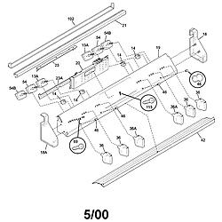 79046803991 Elite Electric Slide-In Range Backguard Parts diagram