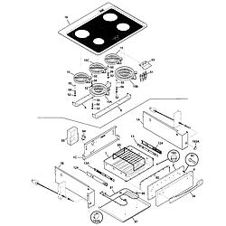 79046803991 Elite Electric Slide-In Range Top/drawer Parts diagram