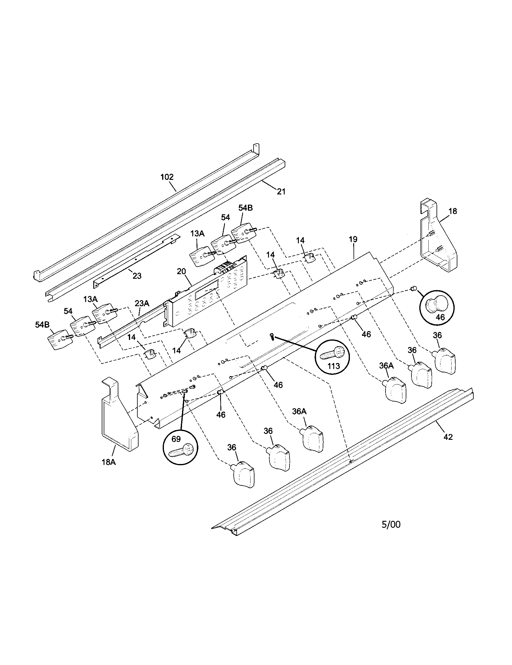 79046803992 elite electric slide-in range backguard parts diagram