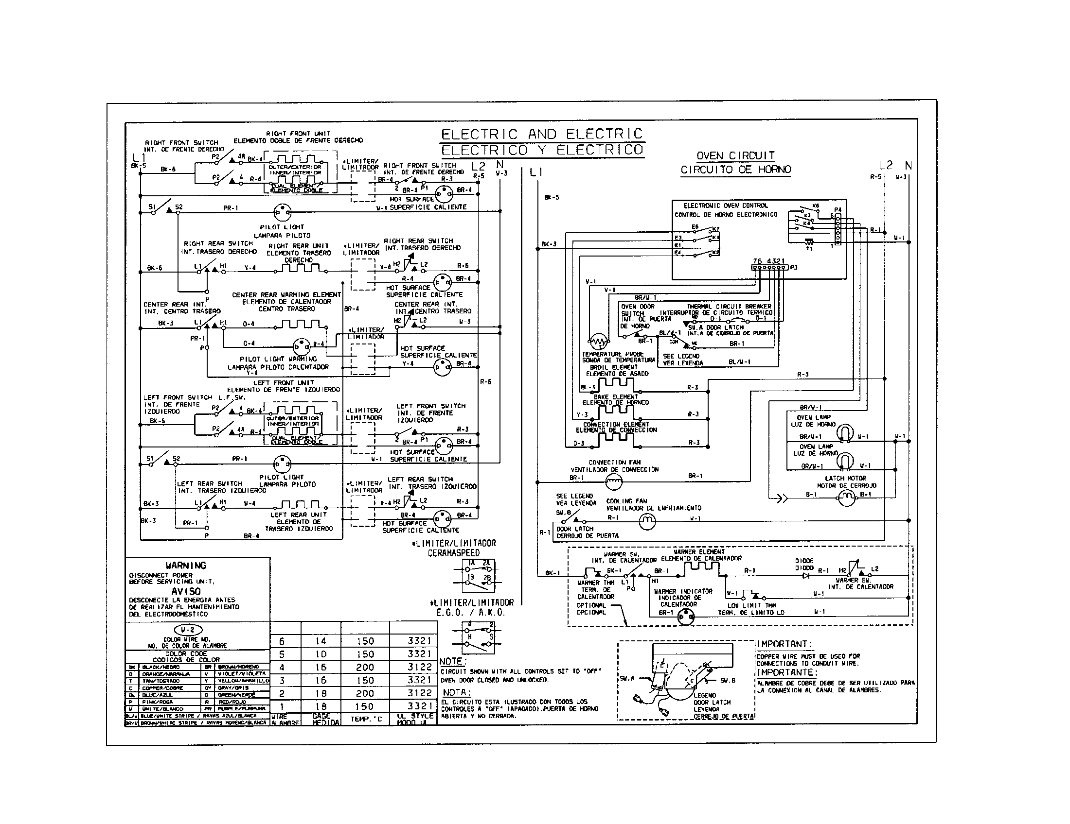 79046803993 Elite Electric Slide-In Range Wiring diagram Parts diagram