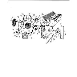 88370 Range Blower assembly/plenum Parts diagram