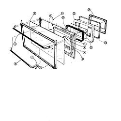 88370 Range Oven door-see thru black glass Parts diagram