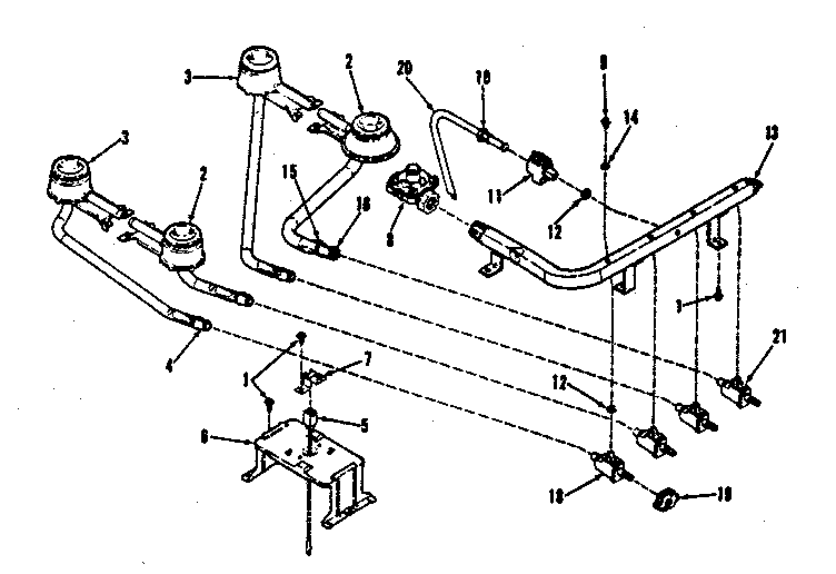 9113658811 Gas Range Top Burner Section Parts Diagram