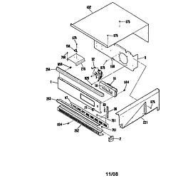 9114742994 Wall Oven Control panel Parts diagram