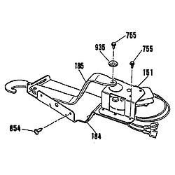 9114742994 Wall Oven Door lock Parts diagram