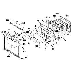 9114742994 Wall Oven Door Parts diagram