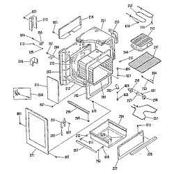 911936918 Electric Range Body section Parts diagram