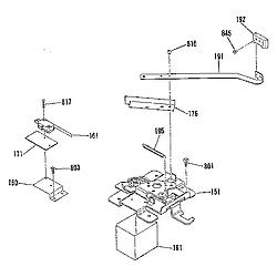 911936918 Electric Range Door lock section Parts diagram